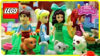 ♥ LEGO Disney Princess Cinderella & Step Sisters Lunch STOP MOTION Cartoon