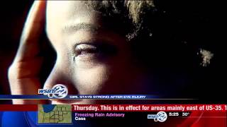 Elkhart girl shares inspiration after eye injury