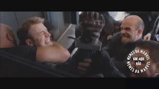 Capitão América - cena do elevador ao som de NARUTO