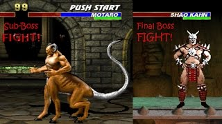 UMK3 / MK3 - Boss Fights (Motaro & Shao Khan)