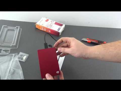 Unboxing hard disk extern/portabil Seagate 1 TB Slim
