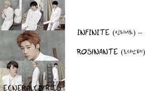 INFINITE (인피니트) - ROSINANTE (로시난테) Color Coded Lyrics [Rom/Eng/Han] [1080p]