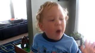 2 year old singing Life is a Highway from the hit movie Cars