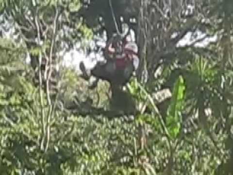 Zip line near Mombacho in Nicaragua