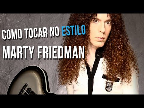 MARTY FRIEDMAN - ESTILO DE GUITARRA