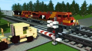 Minecraft Unstoppable Runaway Train AWVR Animation Part 1