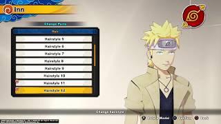 Naruto to Boruto: Shinobi Striker - Showing All MALE Hairstyles