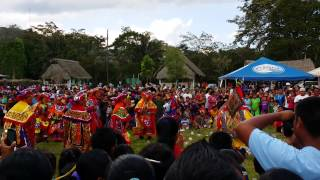 Deer Dance at Maya Day 2015 in Blue Creek, Belize