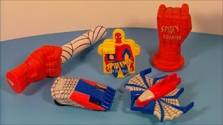1996 MARVEL'S SPIDER-MAN SET OF 5 SUBWAY KID'S MEAL TOY'S VIDEO REVIEW