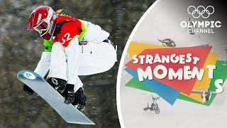 Snowboarder Lindsey Jacobellis Learns a Valuable Lesson   Strangest Moments