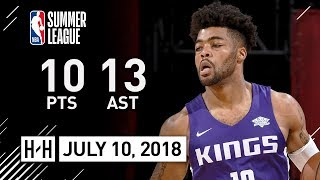 Frank Mason Full Highlights vs Grizzlies (2018.07.10) Summer League - 10 Pts, 13 Assists