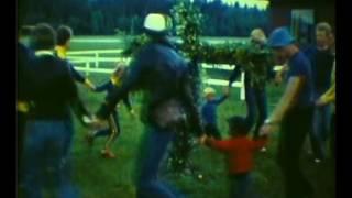 Smålands Fallskärmsklubb dansar kring midsommarstången