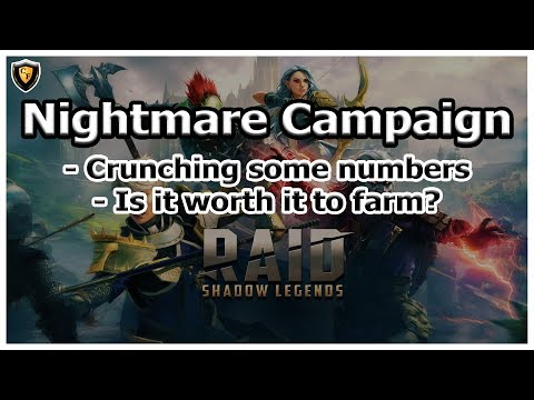 RAID Shadow Legends | Nightmare Campaign Discussion / Analysis