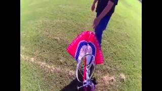 RC Paraglider 1 2m Sky Surfer  HD Cam on Trike 08 28 16 Part 2 Edited with Title