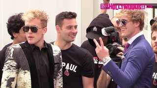 Jake Paul & Logan Paul Prepare Backstage For Their Boxing Press Conference Against KSI & Deji
