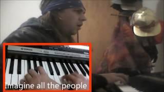 Imagine John Lennon - Piano Voz  Letra e Tradução por Beto Rose