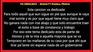 Va Dedicado   Norick Ft Radikal People   LETRA