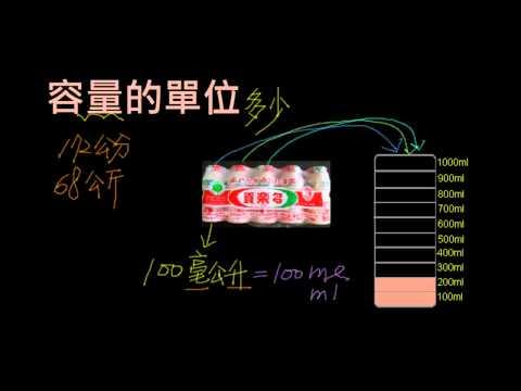容量的單位 毫升與公升 - 配合南一版數學3下第二單元