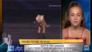 Kaycee Rice- interview at CNN Los Angeles for Showbiz Tonight- Katy Perry's Tiny Dancer