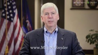 Governor Rick Snyder: Help us design the State of the State cover!