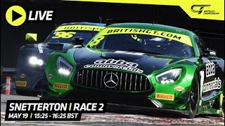 Race 2 - Snetterton - British GT 2019 - LIVE