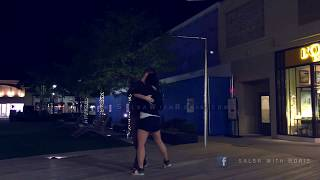 Street dancing Kizomba at night