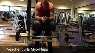 Preacher Curls Myo-reps