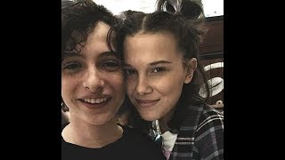 Millie bobby brown and finn wolfhard being cute together for 5 minutes straight