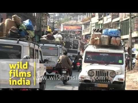 Busy streets of Aizawl, Mizoram