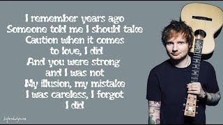 Ed Sheeran - Impossible (Lyrics)