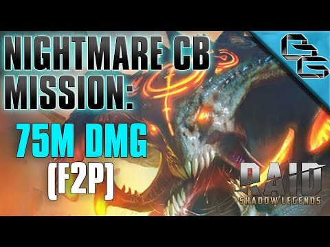 RAID: Shadow Legends | 75M DMG Mission !!! | Nightmare Clan Boss | F2P