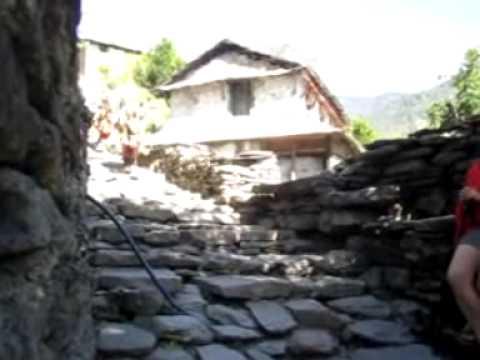 Mule train on the Annapurna Sanctuary Trek