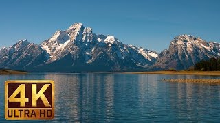 Jackson Lake Scenery in 4K | Peaceful Lake and Mountains Views | Grand Teton - Part 1 - Trailer 44