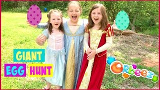 GIANT SURPRISE EGG HUNT-CRAZY ORBEEZ FIGHT Fun with Kids Playing Outside