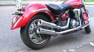 XVS V STAR 1300 Midnight Star Flat Track PIPES Highway Hawk