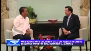 Mar Roxas pays courtesy call on Iglesia Ni Cristo Executive Minister Bro. Eduardo V. Manalo