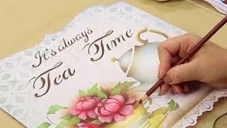 Stencil Opa   Placa Decorativa Tea Time   Mayumi Takushi
