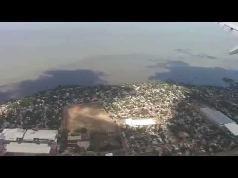 American Airlines landing in Managua, Nicaragua