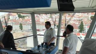 Arrival in to Lisbon, Portugal on the Bridge