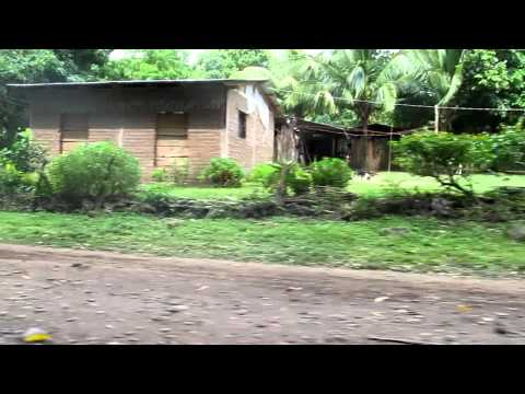 Driving around the island of Ometepe, Nicaragua