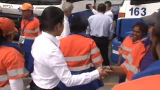 Con 25 camiones compactadores trabaja limpieza publica en la recolección de basura de la ciudad.