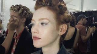 Badgley Mischka Backstage NYFW SS12