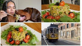 Vegetarian Portuguese recipes/Delicius and easy vegetarian recipes/Alho Francês á Brás