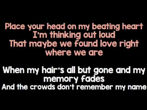 Thinking Out Loud Ed Sheeran Karaoke Female Version Chords - Chordify