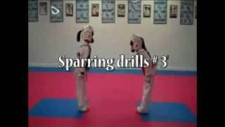 Trabajos básicos para el Taekwondo de combate con niños. Sparring drills for children