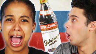 Americans Try Russian Drinks width=