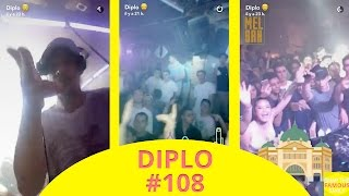 Diplo mixing in Melbourne (Australia) - snapchat - march 18 2017