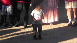 San Carlos Apache little boy dancing