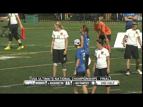 Video Thumbnail: 2014 National Championships, Women's Final: San Francisco Fury vs. Washington D.C. Scandal