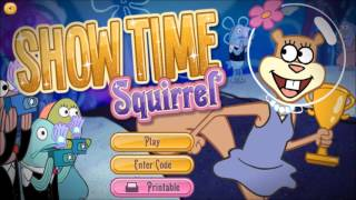 SpongeBob Flash Game Music: Dancin' Tentacles Title and Show Time Squirrel